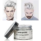 Crema de tinte de color blanco mate, peinado instantáneo, duradera, profesional, cera, 120 g, para...