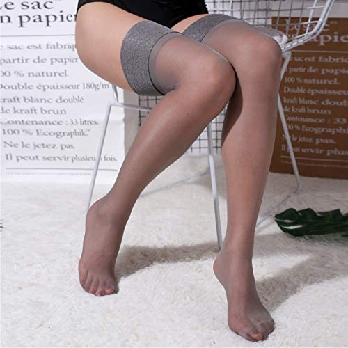 15D Wide Rib Top Manschette Oberschenkel Hohe Strümpfe Frauen Sexy Seide Transparente Strümpfe Weibliche Erotik Dessous Hot Ladies Long Medias