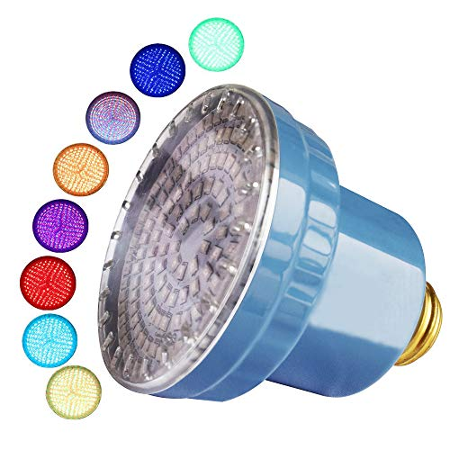 LAMPAOUS intekit S2 Remote LED Spa Lights Bulb (Remote Control kit not Included) 120VAC 15 Watt Multi Color E26 Screw inground Spa Bulb for Pentair (Spa Bulb Only)