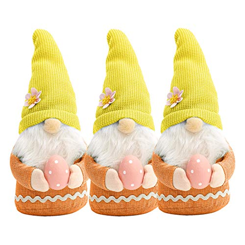 Easter Gnome Plush Doll Decorations Handmake Scandinavian Tomte , Party Celebrate Home Decor for Home & Garden , Easter St Patrick's Day Gifts (C)