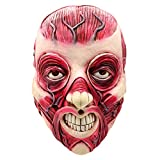 Buwei Scary Horror Halloween Latex Full Head Cover para Masquerade Carnival Party Fancy