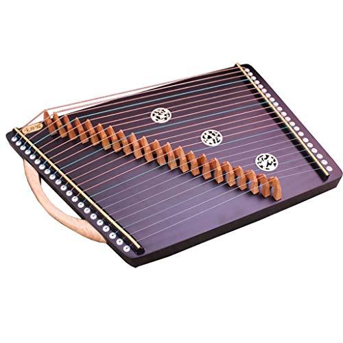 N /A Guzheng, Guzheng Finger Exerciser, Musikinstrumente, Guzheng Finger Trainer, 55cm X 34cm 21 Streicher, bewegliche kleine Guzheng, komplett mit allem Zubehör.