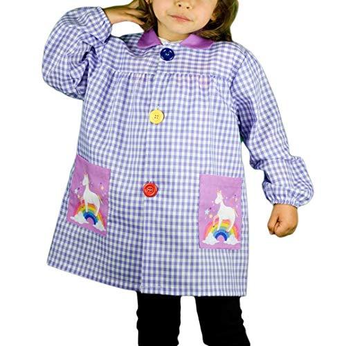 Klottz - Grembiule da bambina con unicorno viola 3