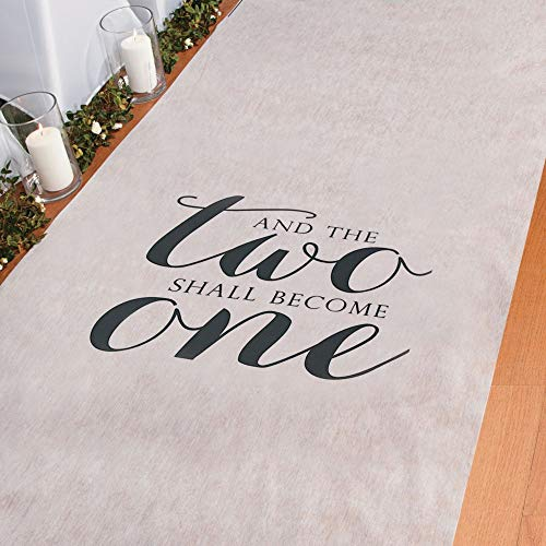 Two Become One Wedding Aisle Runner - 100 Feet