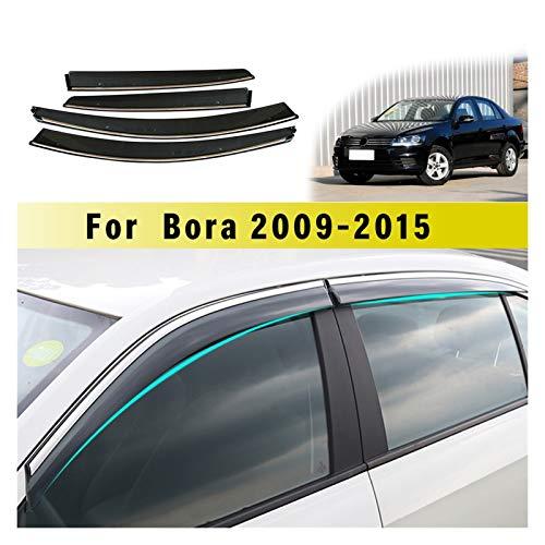ZLLD Windabweiser Für Volkswagen Für Bora Limousine 2009-2015 Auto Sonnenblende Fenster Visier Regenschirm Für Autofenster Kunststoffvisier Hxjh Hintere Windabweiser