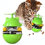 Interactive Cat Treat Toys Cat Puzzle Feeder Ball Toys,4 In 1 Interactive Puppy Food Dispenser Slow ...