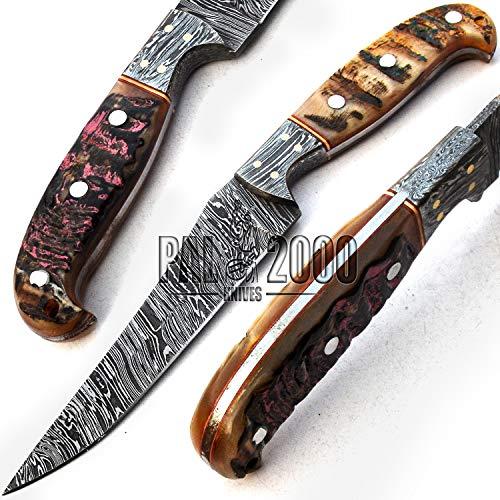 PAL 2000 Damascus messen - handgemaakte Damascus stalen mes - gegarandeerde kwaliteit Damascus staal chef-kok mes - keukenmes met schede 9731
