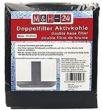 M&H-24 Filter Dunstabzugshaube Aktivkohle Zuschneidbar - Aktiv-Kohlefilter für Abzugshaube Dunstabzug 60cm Dunstfilter Universal 57 x 47 cm Schwarz