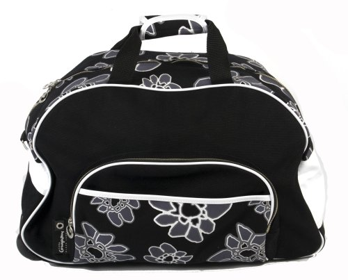 Little Company PF17.07 - Trolly reistas, Power Flower Trolly, kleur: zwart en bloemenprint zwart/wit (black print black white)