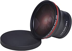 PowerTrust 58MM 0.43x Professional HD Wide Angle Lens w/Macro Portion for Canon EOS Rebel 77D T7i T6s T6i T6 T5i T5 T4i T3i SL2 60D 7D 70D