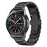 iBazal 22mm Cinturino Metallo Banda Acciaio Compatibile con Samsung Galaxy Watch 3 45mm/Gear S3 Frontier Classic SM-R760,Galaxy Watch 46mm SM-R800,Huawei GT/2 Classic,TicWatch PRO Uomo Band - Ne
