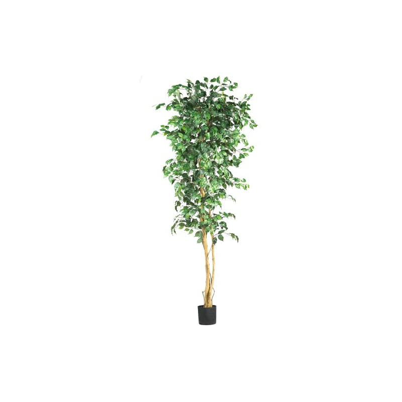 silk flower arrangements nearly natural artificial trees, 84in, green