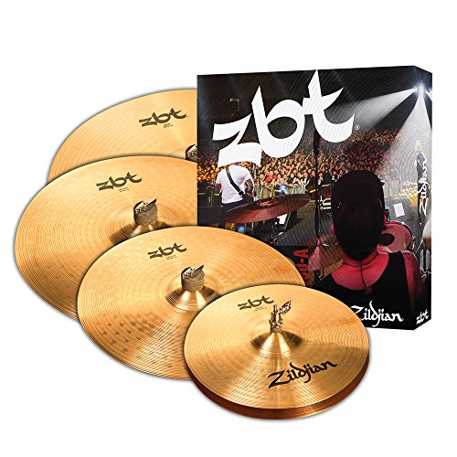 Zildjian ZBTP390-A ZBT Series - 14' Hi-Hats, 16' Crash, 18' Crash, 20' Ride, 4 Cofanetto per piatti