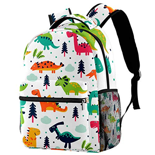 Backpack Dinasour Animal School Bag Rucksack Travel Casual Daypack for Women Teen Girls Boys