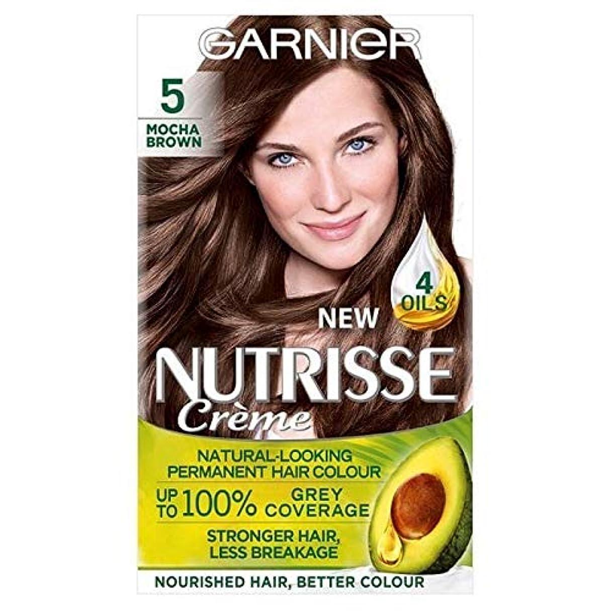 反発パターン変化する[Garnier ] ガルニエNutrisse永久的な毛髪染料ブラウン5 - Garnier Nutrisse Permanent Hair Dye Brown 5 [並行輸入品]