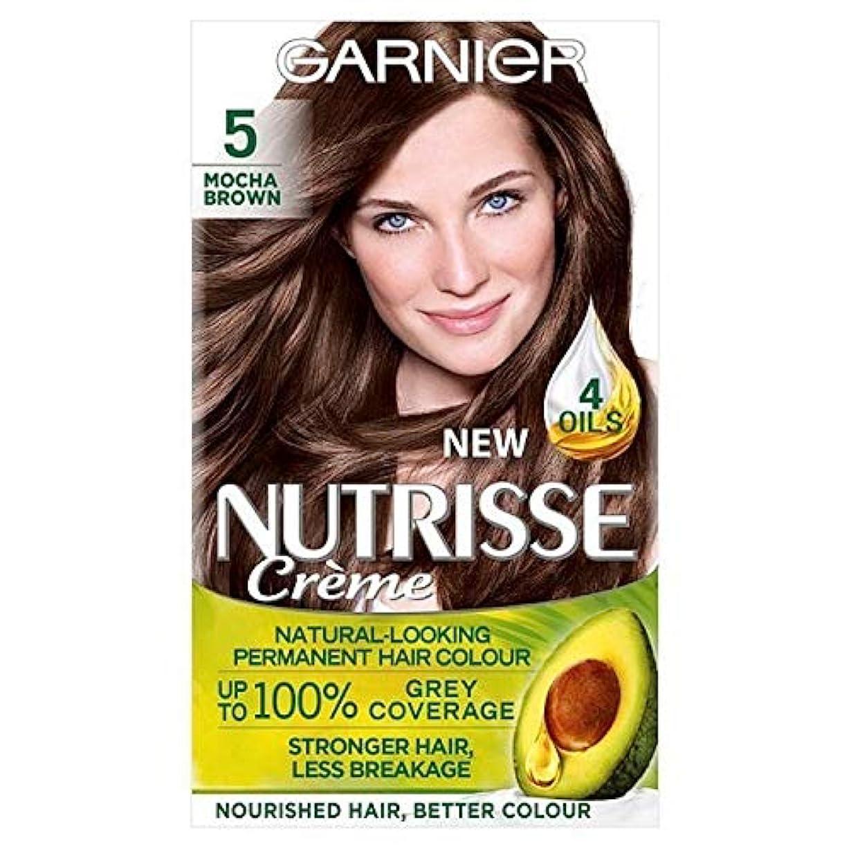 床を掃除する喜び賢い[Garnier ] ガルニエNutrisse永久的な毛髪染料ブラウン5 - Garnier Nutrisse Permanent Hair Dye Brown 5 [並行輸入品]
