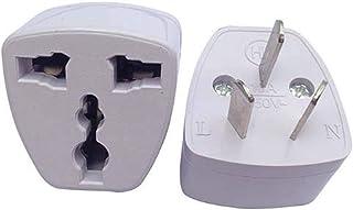 【2pcs】Universal Travel Power Plug Adapter AU Australian to USA EU Euro UK Slim 3Pin
