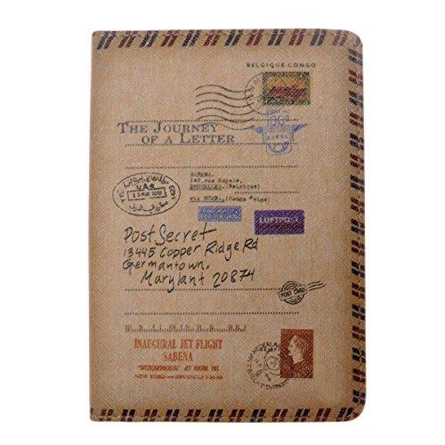 MEKU PU Leather Passport Cover Holder Fashion Passport Wallet Vintage Travel...