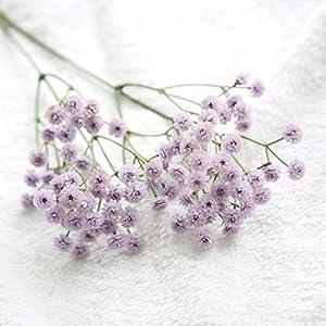 Silk Flower Arrangements White Babies Breath Artificial Flowers Plastic Gypsophila DIY Floral Bouquets Arrangement Wedding Home Decor 90 Flower Heads
