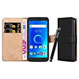 iCatchy For Alcatel 1 Case - Wallet Book [Stand View] Card