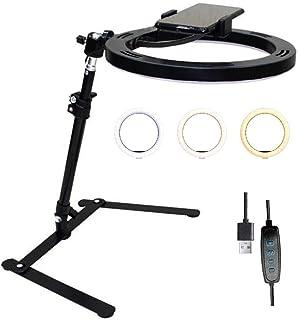 26cm Selfie Ring Light ringlight with phone holder Desktop Tabletop Stand Support Bracket for Make Up, Selfie, Live Show, ...