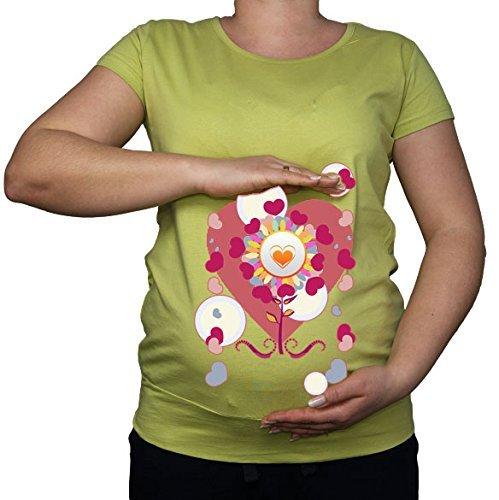 Maternité Grossesse Taille 10–20 Cœur Floral Amour Imprimé Top Tunique T-Shirt - - XL