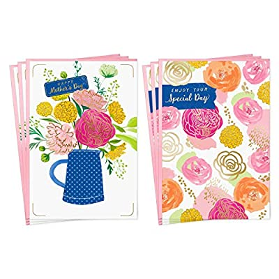 Hallmark Mothers Day Card Assortment, Enjoy Your Special Day (6 Cards with Envelopes, 2 Designs)