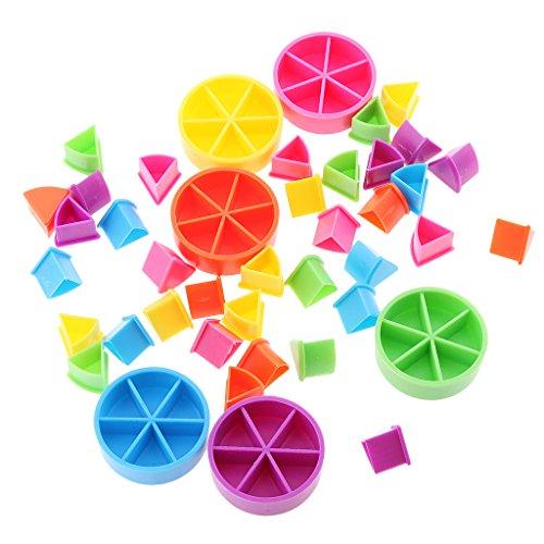 B Blesiya Juego De Entrenamiento con Piezas De Juego Trivial Pursuit 42x Material De Matemáticas Conjunto De Entrenamiento
