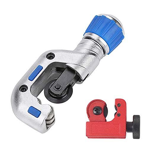 IWILCS Juego de 2 cortatubos para tubos de cobre, mini cortatubos de cobre, para cortar tubos de acero inoxidable, acero, cobre, PVC, aluminio