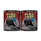 Flex Tape Rubberized Waterproof Tape, 4' x 5', Black (2...