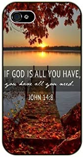 Deco Fairy iPhone 7 Plus / 8 Plus, Silicone Case Cover - Bible Verses John 14:18 Lake Sunset Landscape If God is All You Have All You Need Jesus