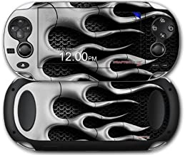 Sony PS Vita Skin Metal Flames Chrome by WraptorSkinz by WraptorSkinz