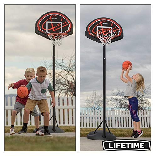 """Lifetime 90022 32"""" Youth Portable Basketball Hoop, Red/Black"""