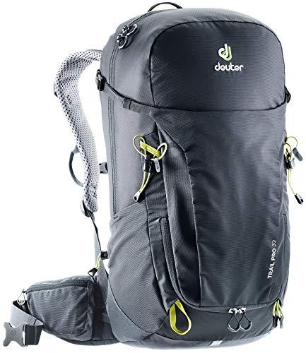 DEUTER Unisex-Adult Trail Pro 32 Rucksack, Black-Graphite, 60 x 32 x 22 cm, 32 L