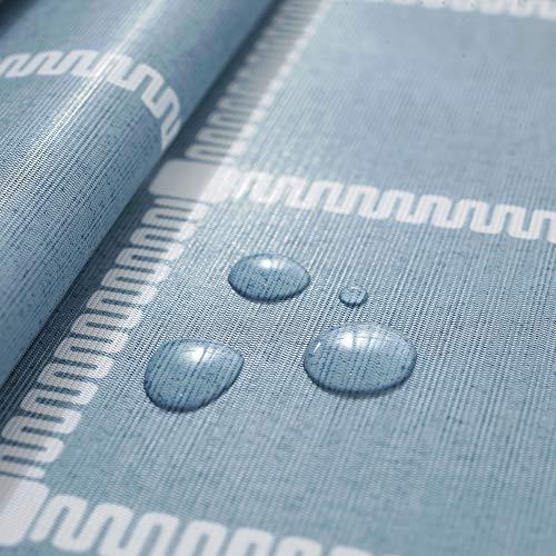 rismart Rústica Más Patrones Impermeable PVC Mantel de Hule Rectangular Prueba de Aceite Mesa Paño,Azul,90_x_140_cm