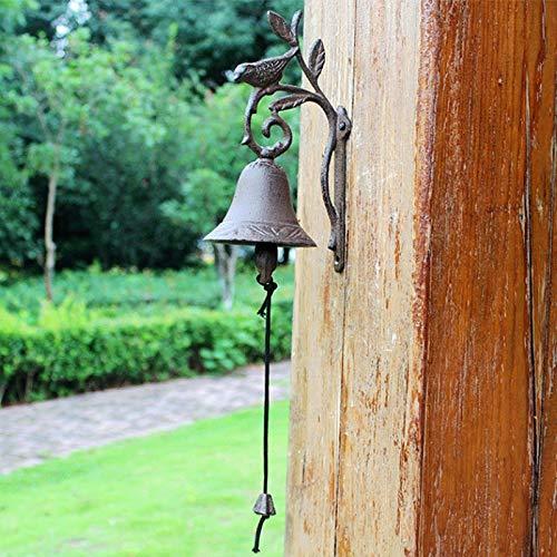 SXZHSM Vogel Brindille ijzeren klok retro muur bel tuin luxe ijzeren klok decoratie 11,5 x 10 x 23 cm bel