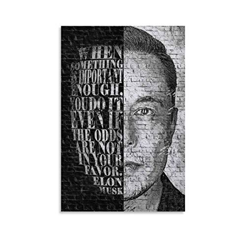 XFVS Home Posters Elon Musk Martian Immigration Home Decoration Gifts - Lienzo decorativo para pared (40 x 60 cm)