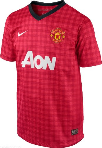 Nike Manchester United 2012-13 Boys Home Jersey Red (Small Boys)