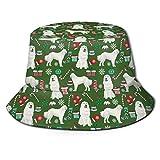 Sombrero plegable de lona con boca de lubina para pesca en primavera y verano, para viajes de pescador y playa, sombrero para sol, Grandes Pirineos Preciosas vacaciones de Navidad, talla única