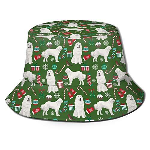 Sombrero plegable de lona con boca de lubina para pesca