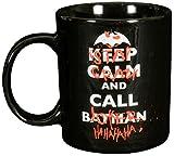 BATMAN Tasse, Porzellan, ca. 300ml Keep Calm, Stay Crazy And Call Joker-0122041 Tazza, Ceramica, Nero, 12 x 7.5 x 9.3000000000000007 cm