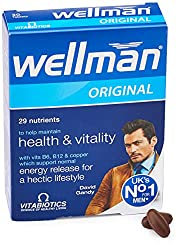 Wellman Vitabiotics Third Best multivitamin for Men