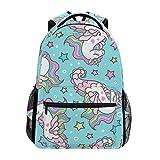 Ahomy mochila escolar para adolescentes, niñas, caballito de mar, estrellas...