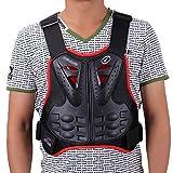 sjapex Gilet Protettivo per Moto Protettore del Torace Protezione per Schiena del Torace Back Protector Petto Armatura Vest Body Armor Protettiva per Sci Riding Skating Scooter
