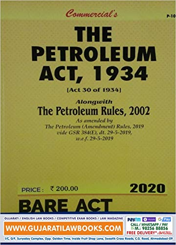 The Petroleum Act, 1934 - Bare Act 2020 Edition