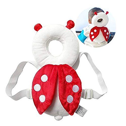 DaKos Baby Toddlers Head Protector for Baby Walkers (Age 4-15 Months)Beetle (Red & White)