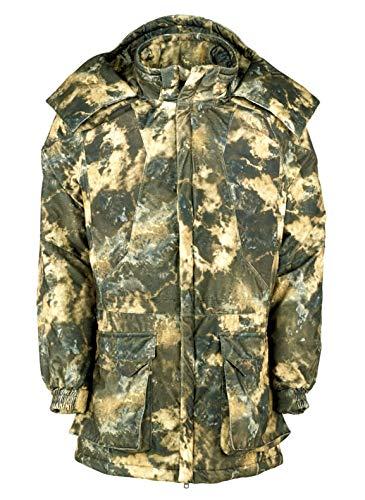 X-Jagd Herren Jacke Thermo-Funktionsparka Glacier Mountain Camouflage Tarnfarben Jagd Outdoor Drückjagd Ansitz (Gr. 50, M)