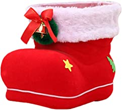 CLISPEED Christmas Candy Boots hristmas Gift Bags Portable Santa Apple Gift Bag Wedding Candy Tote Bag Box for Party Home ...