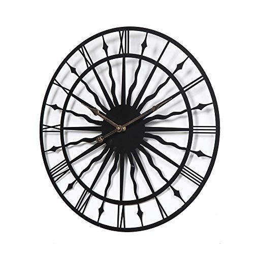 WWKDM1 Reloj de Pared, Material de Metal seleccionado, Creativo Reloj silencioso de Pared Redondo Simple