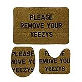 Yeezys 柔らかい 快適な 3ピースバスルームマットセット バスマット+台座マット+トイレシートマット トイレマット セット 洗面所 滑り止め 抗菌 洗濯可能 ホーム装飾を削除してください